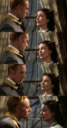 """Vivien Leigh and Leslie Howard in """"Gone With the Wind"""""""