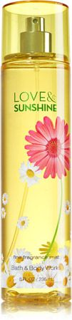 Love & Sunshine Fine Fragrance Mist - Signature Collection - Bath & Body Works