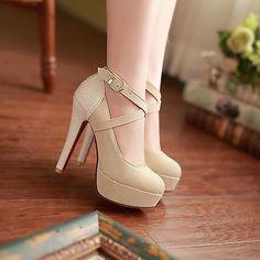 Fashion Ladies Faux Suede Shoes Stiletto Heels Platform Strappy Pumps SNX320