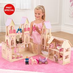 KidKraft Princess Castle Dollhouse with Furniture Princess Doll House, Princess Castle, Pink Princess, Castle Dollhouse, Wooden Dollhouse, Wooden Dolls, Toy Castle, Dollhouse Toys, Chateau Playmobil