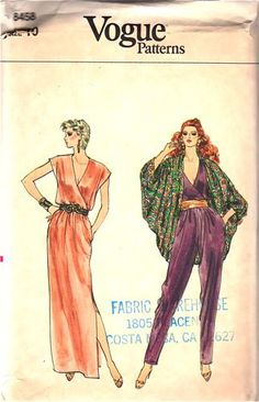 Women's Short Sleeve V-Neck Jumpsuit - Universal Thread™ Vogue Sewing Patterns, Vintage Sewing Patterns, Clothing Patterns, Dress Patterns, Vintage Vogue, Vintage Fashion, Steampunk Fashion, Gothic Fashion, Cocoon Jackets