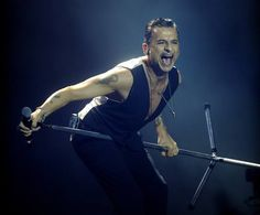 Dave Gahan of Depeche Mode in Bilbao 2013