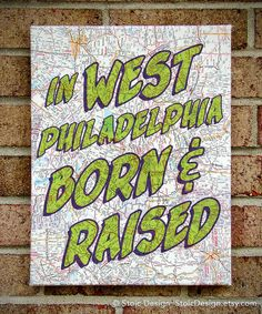 Fresh Prince Vintage Map Art Canvas In West by StoicDesign on Etsy