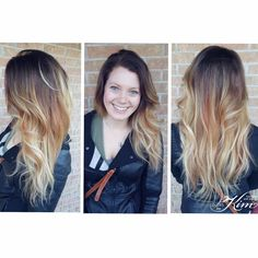 Balayage featuring a perfect shadow root & copper tones! Created by Stylist Erin! www.colorsbykim.com Girly Things, Stylists, Copper, Long Hair Styles, Beauty, Girl Things, Cosmetology, Brass, Long Hairstyles