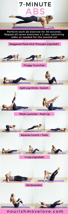 7-Minute Abs Workout for Women   ab workout   ab workouts at home   ab workout for women   7 minute workout   workouts    Nourish Move Love #abworkout #workouts #core