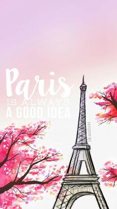 Paris is always a good idea (torre eiffel) dibujo hecho por anni (papper pop)