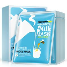 Skin Care 60pcs Hanchan Milk Facial Mask Moisturizing Whitening Facial Masks Shrink Pores Oil Control Brighten Mask Face Korea Skin Care Durable In Use Beauty & Health