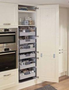 24 Super Fresh & Clever Kitchen Storage Ideas in 2018 Kitchen Storage Ideas for… – Kitchen Pantry Cabinets Designs White Kitchen Range, Kitchen Cabinets, Home Kitchens, Kitchen Design, Kitchen Cabinet Plans, Diy Kitchen, Kitchen Renovation, Larder Cupboard, Clever Kitchen Storage