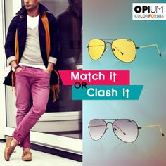 Would go for an Elegant matching hue or would you be a Statement maker with an out-of-the-way mauve?  #MatchItorClashIt