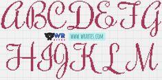 Olá WR's!     Quero compartilhar com vocês este gráfico de ponto cruz de umalfabetolindo! Estas letras elegantes vãodarum charmeúnico...