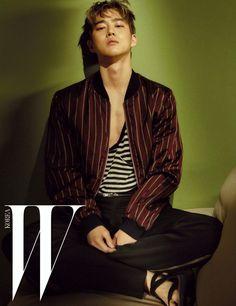 EXO's Suho is all man in 'W Korea' cuts | http://www.allkpop.com/article/2016/06/exos-suho-is-all-man-in-w-korea-cuts