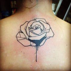 geometric flower tattoo black and white - Google-Suche