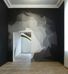 This would be a great accent wall. Also it could work in blues, grays, or bluish-purples too . This would be a great accent wall. Also it could work in blues, grays, or bluish-purples too . Interior Walls, Interior And Exterior, Interior Design, Modern Interior, Luxury Interior, Modern Decor, Interior Decorating, Room Decor, Wall Decor