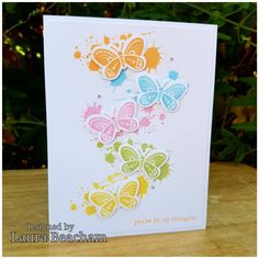 Close to my Heart Dreamin Big butterflies I loved creating this simple yet very elegant card with the ink blot stamp set and butterflies.