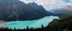 Lac Peydo in Banff Natl. Park Alberta Canada - [OC] [6472  2800] Photo by @SnazzyQ