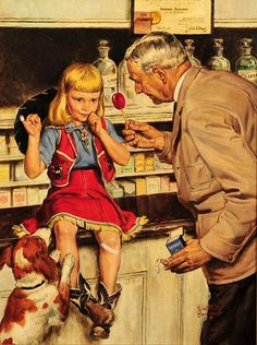 """The Druggist"" by Walter Martin Baumhofer (1904-1987, American)"