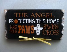 Berner Angel Sign. Handmade Gifts on a Budget.  rustic wooden sign.