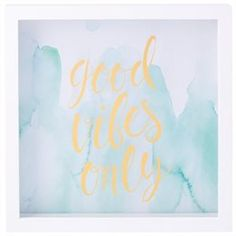 """Motto Frame – Good Vibes Only, 12"""" x 12"""""""