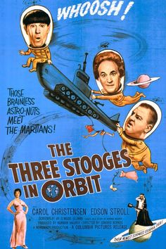 """FRIGHT FEST! TREAT! """"Three Stooges In Orbit """"   Hollywoodland Amusement And Trailer Park"""