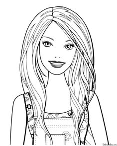 With Barbie coloring pages online, your little girls choose the ...