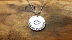 Hand Stamped Jewelry, Angel With A Stethoscope Nurse Necklace, Customized Stethoscope Nurse Necklace, Medical Staff Appreciation, Nurse Gift by JazzieJsJewelry on Etsy