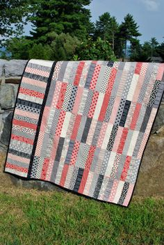 PDF Quilt Pattern.....Jelly Roll and Fat Quarter friendly, ..Baby, Lap and Twin size, P.S. I Love You