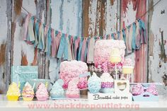Photography Backdrops Cake Colorful Cute Birthday Background for Photo Studio Children Booth Shoot Printed Picture Props