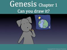 The goal is to have students read and think for themselves about the words of Genesis, Chapter 1.  There are two booklets.  One contains only the words of Genesis, Chapter 1, and a few prompting questions and has room for students to write and draw.  It can be used on its own.
