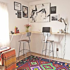 Don't have room for a full size desk? Check out this stand desk DIY. (via A Beautiful Mess)