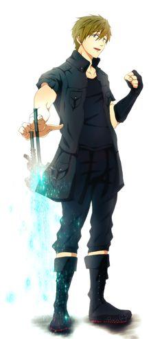Noctis Tachibana (Makoto) by Daniimon on DeviantArt Tatsuhisa Suzuki, Free Makoto, Manga, Swimming Anime, Makoto Tachibana, Free Eternal Summer, Free Iwatobi Swim Club, Noctis, Final Fantasy Xv