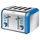 Breville VTT337 Opula Collection Topaz Blue 4 Slice Toaster £40