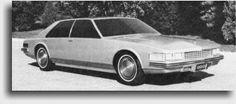 1973 Cadillac LaScala Sedan, un deuxième véhicule concept qui débouchera sur le modèle de production Seville en 1975.