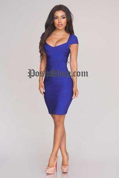 Emily Bandage Dress - Blue - Bandage Dress - Clothing