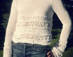 maglione bianco mix di cotone bianco sciolto maglia di ileaiye