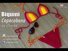 Biquini de Crochê - Praia de Copacabana- Tamanhos P, M e G