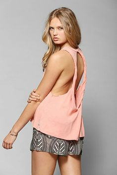OBEY Rider Cutout Back Tank Top - Urban Outfitters