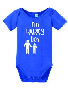 6f40fb1d8 I'm Papa's Boy Onesie Funny Bodysuit Baby Romper Funny Baby Clothes, Funny  Babies