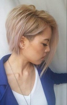 So subtle pink with the lovely undercut