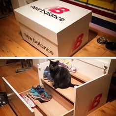 Slide_Out_Wooden_Sneaker_Box_Storage_by_Handcrafted_Designer_Woodist_Punk_2015_06 Fun Projects, Wood Projects, Woodworking Projects, Shoe Box Design, Giant Shoe Box, Sneaker Storage, Shoe Box Storage, Pink Jordans, Sneakers Box