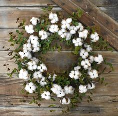 This perfectly crafted Faux Cotton Eucalyptus Wreath brings a rustic and natural feel to any decor. With its charming cotton and green accents, it can easily be displayed year-round. Cotton Wreath, Fabric Wreath, Diy Wreath, Door Wreaths, Wreath Crafts, Wreath Ideas, Cotton Decor, Country Wreaths, Eucalyptus Wreath