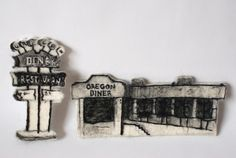 """Oregon Diner""  By Holiday Campanella  Needle Felting - Felted Sculpture"