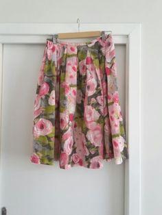 Trina-Turk-floral-cotton-skirt-size-12