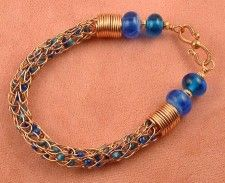 Viking knit with beads  by howtomakejewelrynow.com/viking-knit-gallery