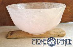 rose quartz size bowl by StoneDance on Etsy