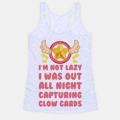d1f7e8d0 I'm Not Lazy I Was Out All Night Capturing Clow Cards Baseball Tee |  LookHUMAN