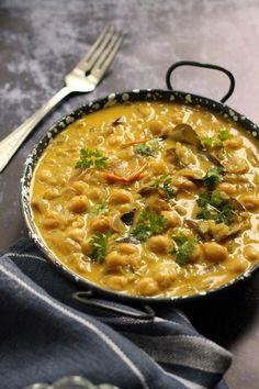 Kókuszos csicseriborsó-curry recept