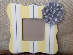 Each wood frame is 100% hand-painted, distressed, and embellished with a fabric flower. Adds a beautiful decorative touch to your home and