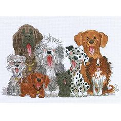 Janlynn Suzy's Zoo Dogs Of Duckport Counted Cross Stitch Kit, 15 ...