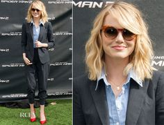 Emma Stone In Band of Outsiders – 'The Amazing Spider-Man 2′ Photocall