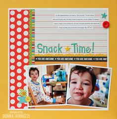 Snack Time! by Donna Jannuzzi featuring Love You More from Pebbles